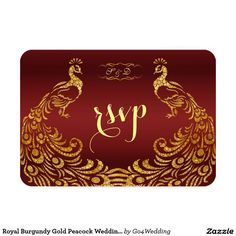 Shop Royal Burgundy Gold Peacock Wedding SAVE THE DATE Magnet created by Personalize it with photos & text or purchase as is! Royal Wedding Invitation, Peacock Wedding Invitations, Save The Date Invitations, Wedding Rsvp, Wedding Matches, Elegant Invitations, Elegant Wedding Invitations, Wedding Ideas, Wedding Inspiration