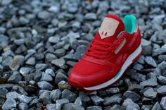 Reebok Classic Leather Utility – Red / Teal – Canvas