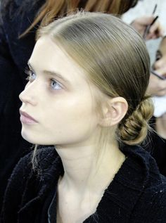 Abbey Lee Kershaw backstage at Givenchy Fall 2008