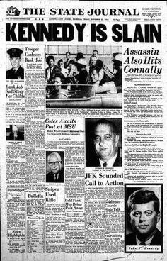 The State Journal/Kennedy is Slain/Nov 22 1963