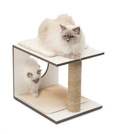 Vesper V-Stool White - Cat store galore Vesper Cat Furniture, Pet Furniture, Cheap Furniture, Discount Furniture, Cat Toilet Training, Cat Activity, Cat Store, Cat Scratcher, Cat Food