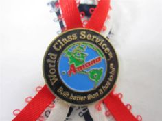 Vintage Amana Refrigeration Pin Lapel/Tack Pin World Class Service Award Pin #amanas #vintagepins #lapelpins