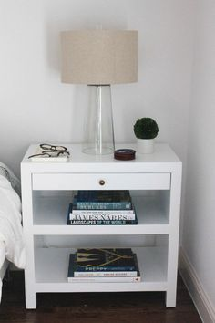 design darling white lacquer nightstand