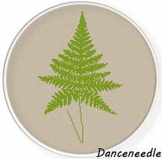 INSTANT DOWNLOAD,Free shipping,Cross stitch pattern, Cross-Stitch PDF ,fern leaf no.3 ,zxxc0827