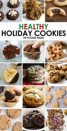Looking for healthy Christmas cookies? This is your one stop shop for all of your favorite holiday cookie recipes lightened-up with healthy ingredients!
