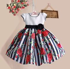 Cheap dress for your figure, Buy Quality dresse directly from China dress read Suppliers: New Summer Baby Girls Floral Dress with cap European Style Designer Bow Children Dresses Kids Clothes - Kids' Clothing Baby Outfits, Little Girl Dresses, Kids Outfits, Girls Dresses, Flower Girl Dresses, Baby Dresses, Dress Girl, Flower Girls, Girls Black Dress