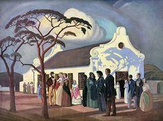 JH Pierneef. Die Geloftekerkie in Pietermaritzburg. Bron: Die Huisgenoot, Desember 1938