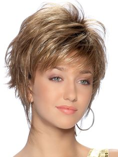 Sienna Wig. Short chipped voluminous layering with added volume at the top. From the TressAllure Collection @ $125.00 #wigs, #hair, #tressallure, #theheadshopwigs,