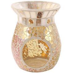Yankee Candle Wax Tart Burner - Gold and Pearl Mosaic