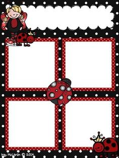 LADYBUG NEWSLETTER TEMPLATE FREEBIE!! -....Follow for free 'too-neat-not-to-keep' teaching tools & other fun stuff :)