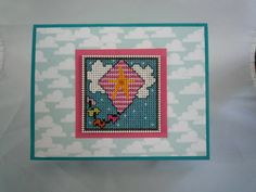 Lets go fly a kite hand stitched card by HMCrafters on Etsy, $7.00