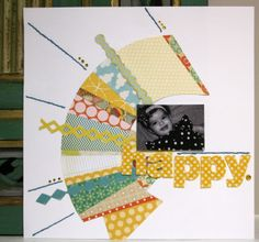 Scrapista Scrapbook Page: Happy