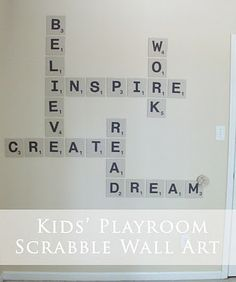 Scrabble wall art from dropcloth @Carol Allen Lockwood