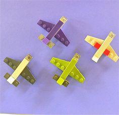 Lego Mini Aeroplane Magnets Party Favors two per order. $6.50, via Etsy.