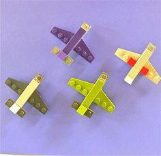 Lego Mini Aeroplane Magnets Party Favors two per order. $6.50, via Etsy.