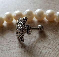 Turtle Cartilage 16ga Tragus Helix Earring Body Jewelry