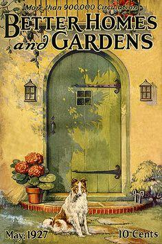 1927 Better Homes and Gardens magazine...lovely cover...