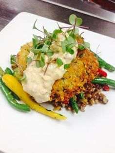 Parmesan Encrusted Grouper at Balaban's in Chesterfield, Missouri