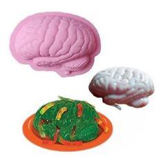 a human brain shape pan baking silicone halloween cake mold pudding jello dessert