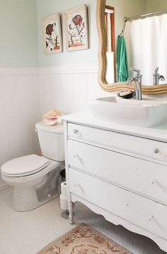 Before& After: Diy Cottage Bathroom