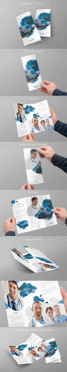 Medical Trifold. Download here: http://graphicriver.net/item/medical-trifold/5052674?ref=abradesign #design #trifold #brochure