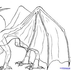 Another dragon tutorial. This time it is the four-legged dragon, so please enjoy. Easy Dragon Drawings, Easy Drawings, Body Drawing, Drawing Tips, Dragon Sketch, Online Drawing, How Train Your Dragon, Fantasy Creatures, Art Tutorials