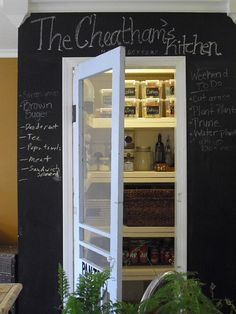 I think I like the idea of having a see through door into the pantry... (the pantry I will one day have)