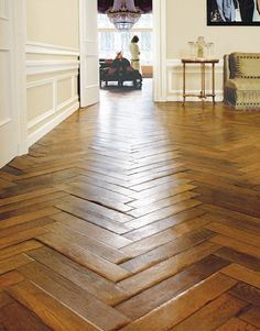 Antique French Oak Herringbone