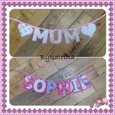 Beautiful banners. One for Mother's Day, they come in lots of different colours