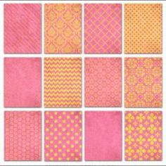 Free Printable Card Designs, Gift Tags, and Labels in Pink and Gold