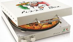 Horno en forma de caja de pizza