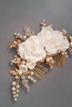 Camellia Flowers Bridal hair comb, Gold Bridal headpiece, Bridal hair piece, Wedding hair piece, Wedding hair comb, Wedding headpiece Hair Comb Wedding, Wedding Hair Pieces, Bridal Hair Flowers, Camellia, Bridal Headpieces, Craft Items, Bridal Accessories, Mermaid Wedding, Wedding Hairstyles