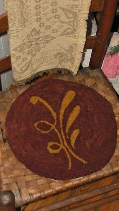 "Great ""redware"" chair pad pattern!"