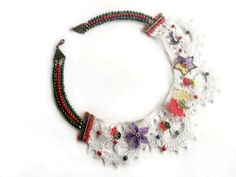 "Check out Valentine's Day Gift , OOAK , Needle Embroidered Collar Necklace , Vintage Style, Vintage Needle Lace  ,"" Decal @Lockerz http://lockerz.com/d/27477004?ref=glden.kyl1098"