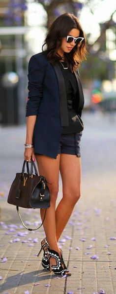 Shorts + blazer.                                                                                                                                                                                 More