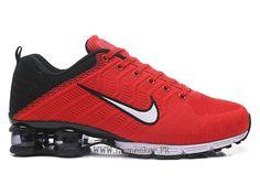 quality design a26e1 7021f Nike Air Shox R4 Flyknit Chaussures de basketball Pas cher Homme Blanc Noir  rouge