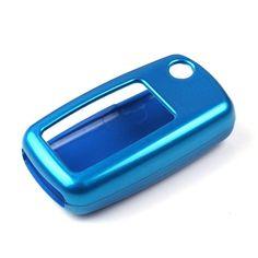 Metallic Paint Blue Shell Holder Cover For VW Jetta Passat Golf Remote Key Fob #Budgettank