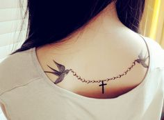 3pcs set swallows birds Temporary Tattoo fake by prosciuttojojo