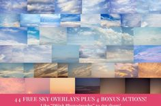 Hey there!  As a token of my appreciation for my Facebook fans, I have added 44 FREE Sky overlays plus 4 bonus helper actions to assist you in using them!   Just become a fan on my Facebook page, click on the Freebies tab on the left, then you can click the image to download them!  It is a large…