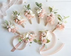 Beautiful floral boutonniere, made with blush flowers and greenery. The mounting brooch-pin. Price is for 1 boutonniere. Size SHIPPING INFO For international Prom Flowers, Blush Flowers, White Wedding Flowers, Floral Wedding, Bridesmaid Corsage, Corsage Wedding, Wedding Bouquets, Pink Boutonniere, Groomsmen Boutonniere