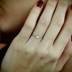 Mini Triangle Diamond Ring - Plukka - Shop Fine Jewelry Online