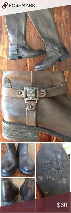 Vince Camuto Boots Size 8 Vince Camuto Women's 'Farren' Grey Leather Boots Size 8 Vince Camuto Shoes Winter & Rain Boots