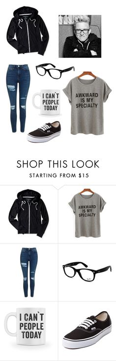 """Tyler Oakley inspired"" by madipaige-32 ❤ liked on Polyvore featuring Aéropostale, Topshop, Ray-Ban and Vans"