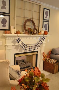 fall mantle fall home tour, fall decor, decorate for fall, fireplace fall home decor