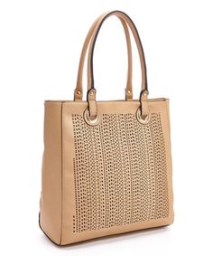 Loving this Beige Perforated Tote on #zulily! #zulilyfinds