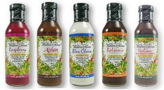 Walden Farms Salad Dressings -- ALL with ZERO calories, carbs, sugar, fat, or gluten!!!!
