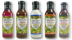 Walden Farms Salad Dressings -- ALL with ZERO calories, carbs, sugar, fat, or gluten!!!!