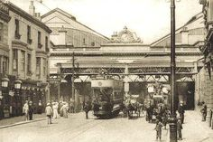 Brighton Train Station Brighton East Sussex England in 1905