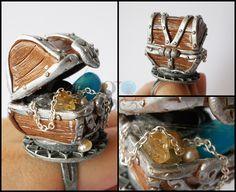 Treasures chest ring by GemDeDude.deviantart.com on @deviantART