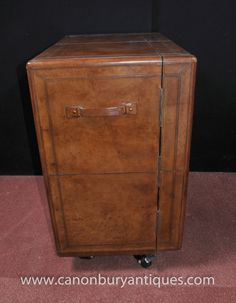 0a41eaa8c1e7f Canonbury - English Campaign Furniture Leather Drinks Cabinet Cocktail Chest